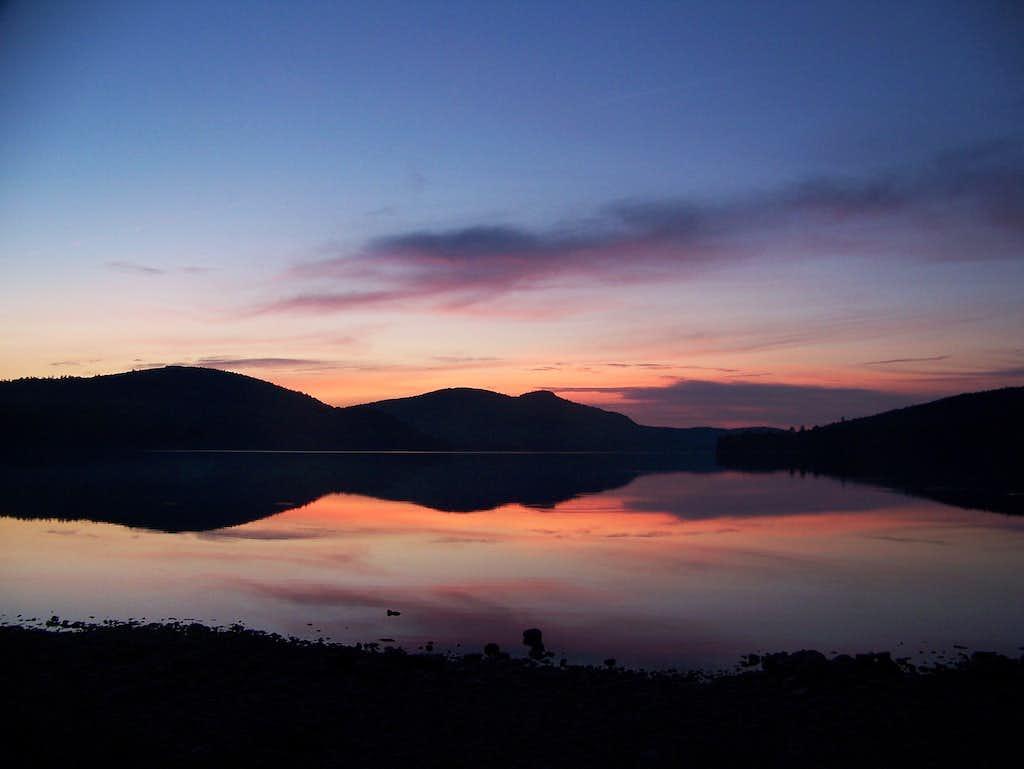 Sunset over Lake Nahmakanta-AT