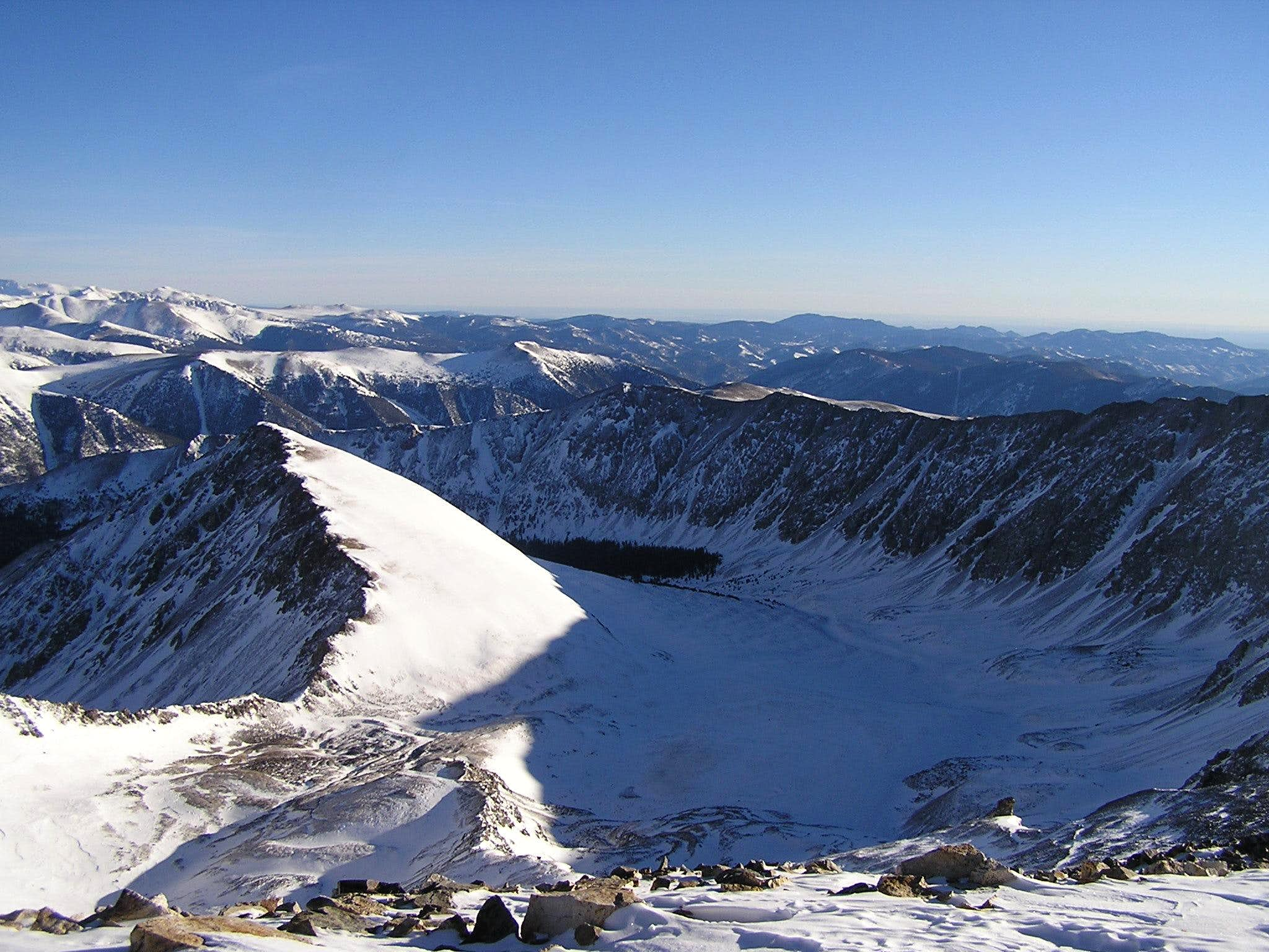 Grays Peak Solo Winter Ascent