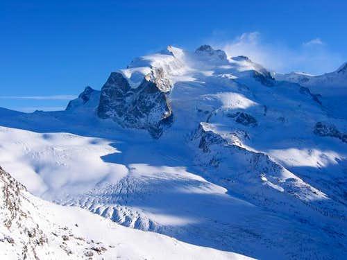 Monte Rosa vu de Hochtälligrat