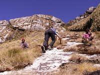 Scrambling up Mount Namuli