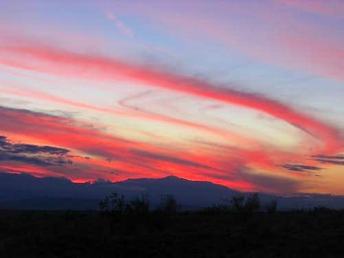 Toro Peak Sunset
