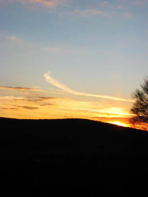 Sunset on Allegheny Plateau