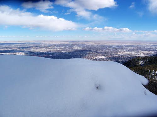 City of Colorado Springs from Mount Manitou