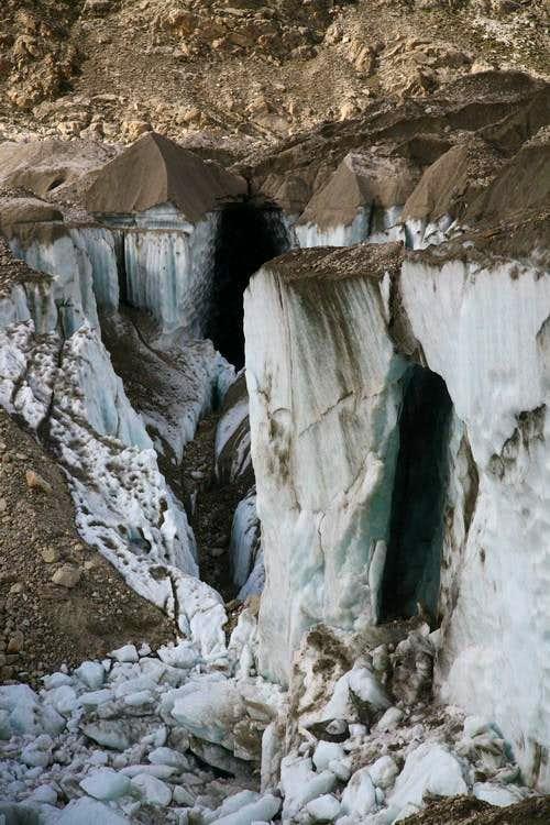 Crevasses at Baltoro Glacier