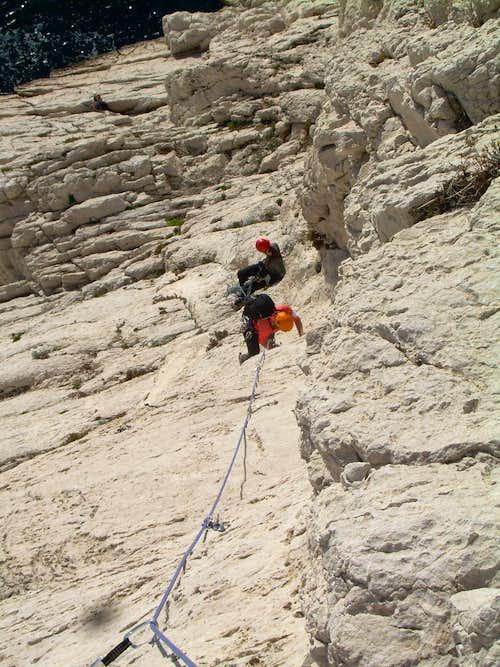 Climbing above sea!