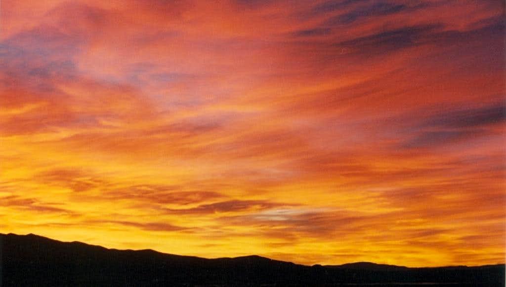 Sunset over the Wellsvilles