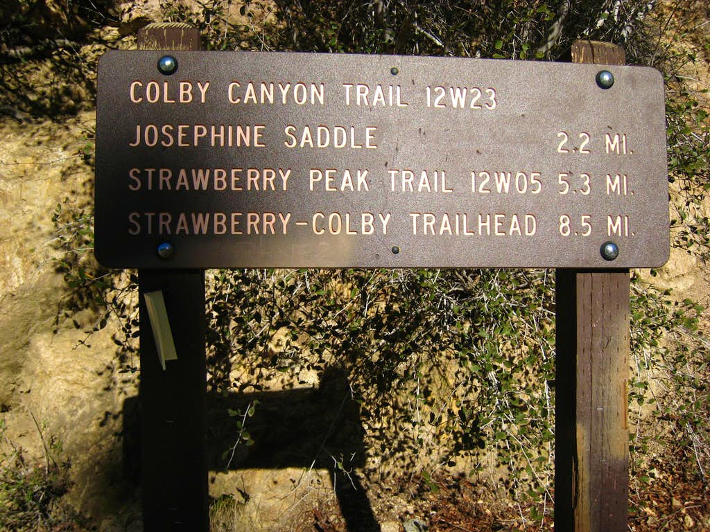 Colby Canyon Trail Head