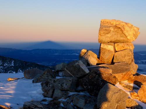 Cottonwood Peak sunset shadow