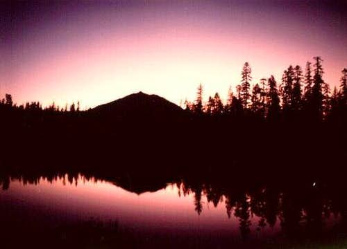 Lassen Peak silhouette from...
