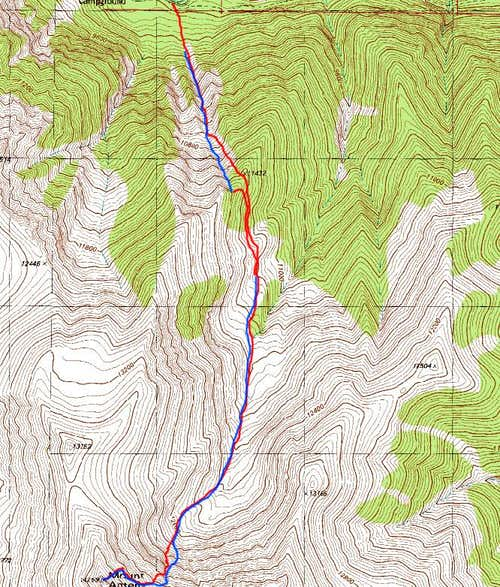 North Face Direct Route Map