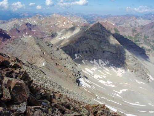View from Summit of Castle Peak