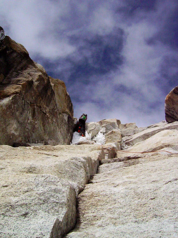 Ranrapalca:  north face route