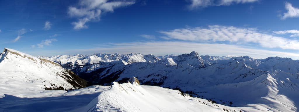 Hehlekopf (2058m) summitpanorama