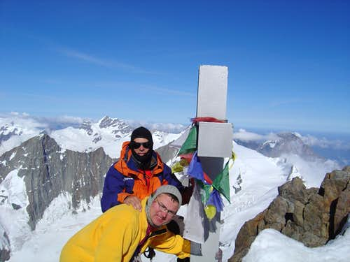 On the Top of Finsteraarhorn 4274m