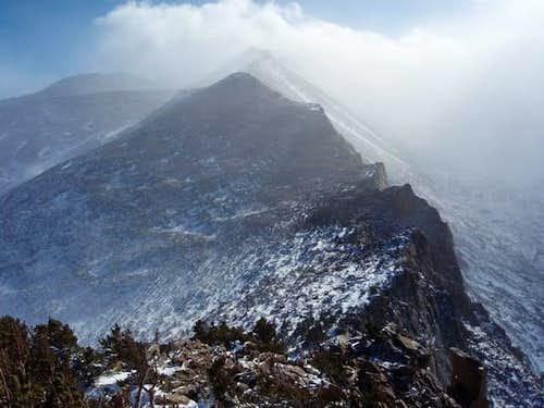 Ridge to Storm Peak from Half Mountain
