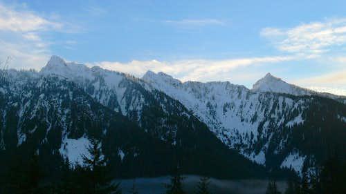 Hall Peak and Marble Peak Panorama