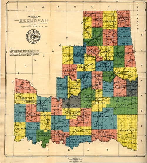 Map of the State of Sequoyah