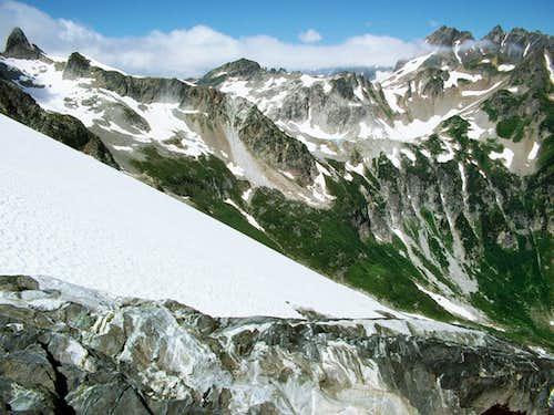 White Rock Lakes from Dana Glacier
