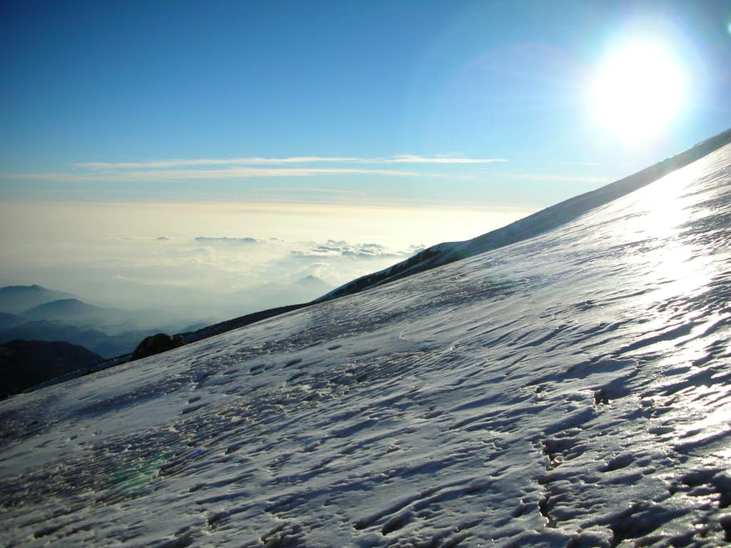 Base of the Jamapa Glacier