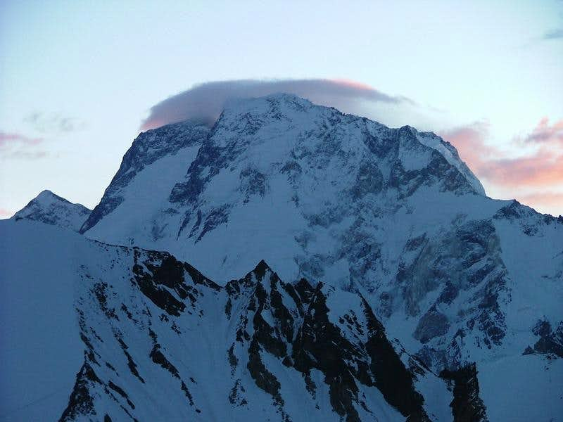 Broad Peak (8051-m) as seen from high pass of Gondogoro, Karakoram, Pakistan