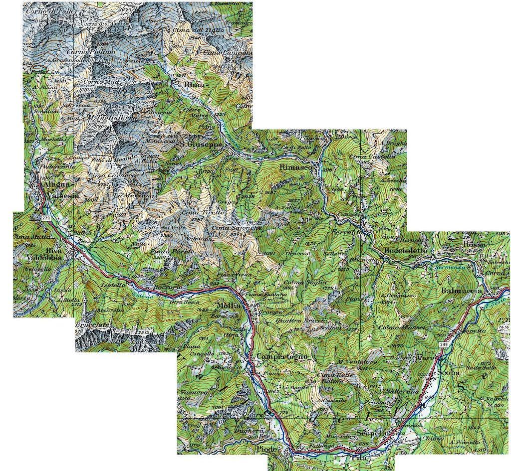 Tagliaferro group. Map.