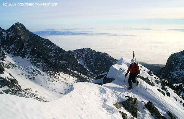 Near the summit of Maly Ladovy stit