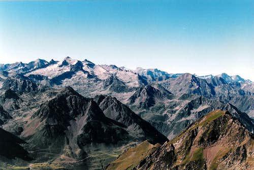 Neouvielle seen from the Pic du Midi de Bigorre