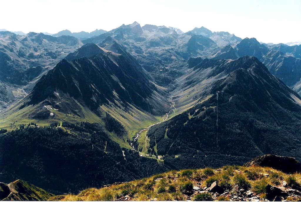 Vallon de la Glere, seen from the Pene Det Pouri