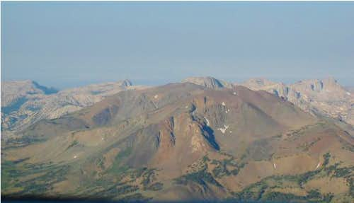 Eagle Peak from the north,...