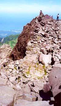 The summit of Chokai-san