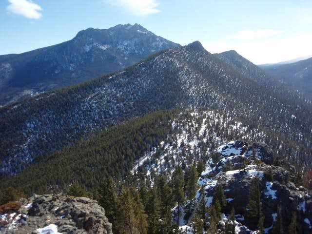 Lily Mountain from Rams Horn Mountain