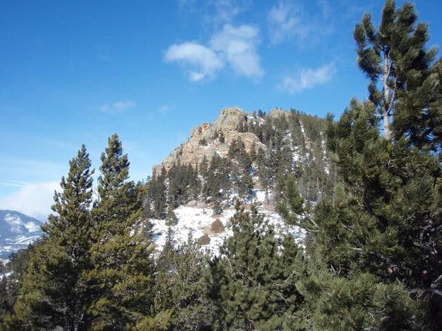 Rams Horn Mountain from the Lily Mountain Saddle