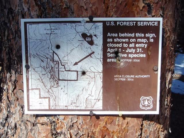 Rams Horn Mountain Closure Sign