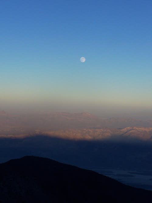 Full Moon Rising over Death Valley