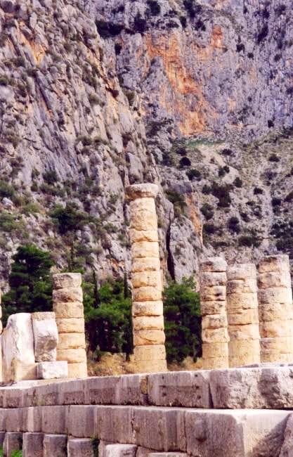 Apollo's temple in Delphi...