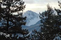A jagged peak beside Mount Askom