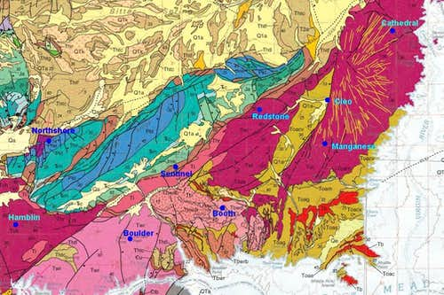Geologic Map of Cleo Paleovolcano