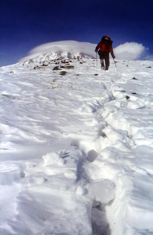 Descending from Damavand