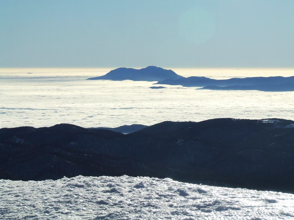 View from summit ...