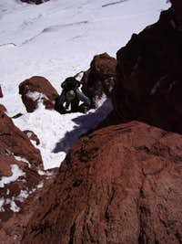 Polish Direct (Aconcagua): rock crux