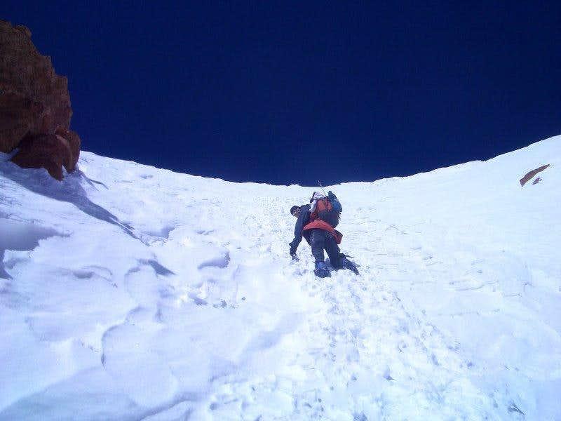 Polish Direct (Aconcagua): snow crux