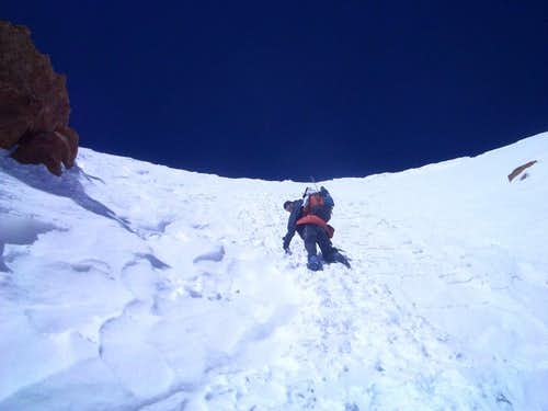 Polish Direct (Aconcagua): snow crux