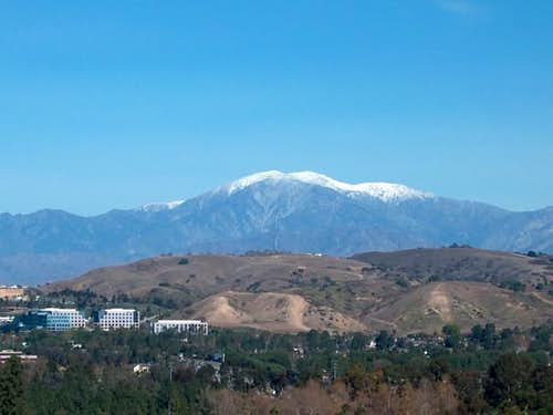 Mt. Baldy capped with snow...