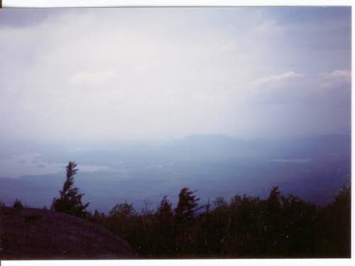 Looking NE from the summit of...