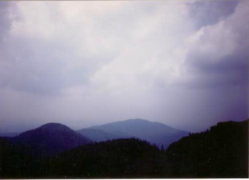 Southern vista of mountains...