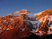 Sunset on Pizzo Cefalone south side