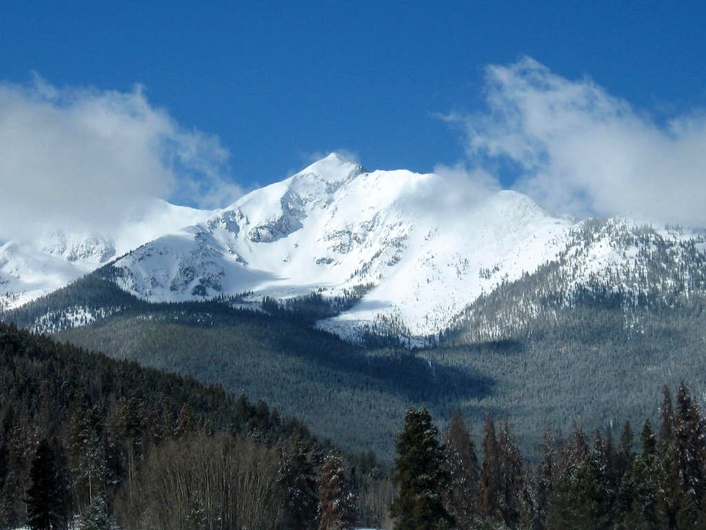 Peak 1 from the east