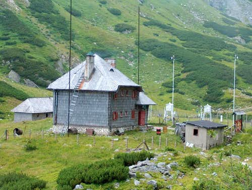 Meteorological station near Iezer lake