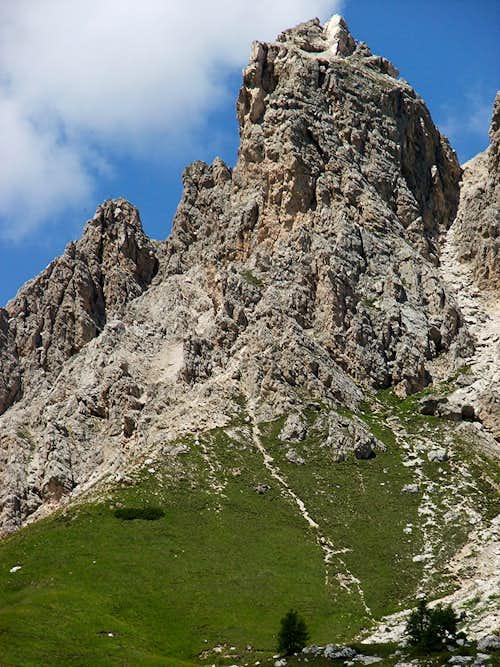 Kleine Cirspitze from Grödner Joch