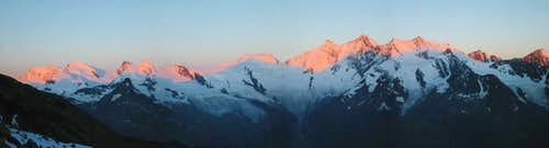 Sunrise from Weissmies Hutte